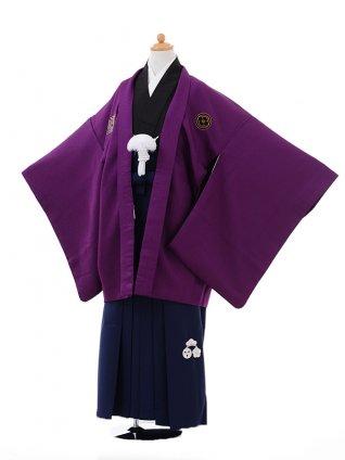 小学生 卒業式 袴 男児 9374小町Kids紫×紺袴