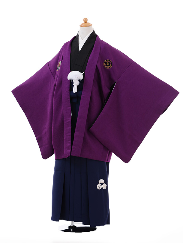 ジュニア袴男児9374小町Kids紫×紺袴
