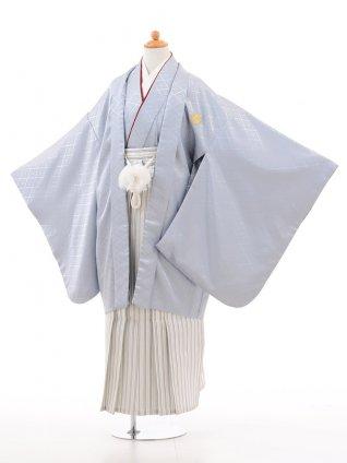 小学生 卒業式 袴 男児 D005グレー×白シルバー袴