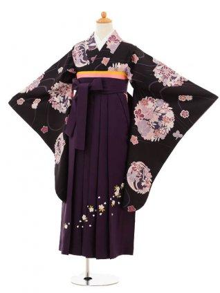 小学生卒業式袴レンタル(女の子)9206 紫