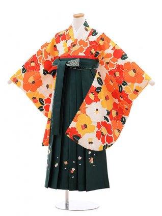 小学校卒業式袴レンタル(女の子)9874クリーム