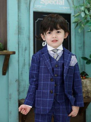 [男児スーツ]長ズボン ロロ・ピアーナ チェック 細身 1000 100cm~