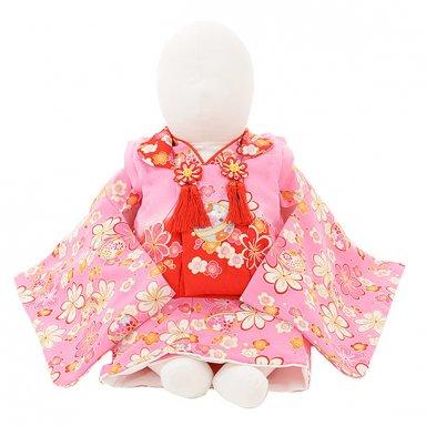 女児【100日~1歳用】 0045 ピンク梅と鈴/セパレート