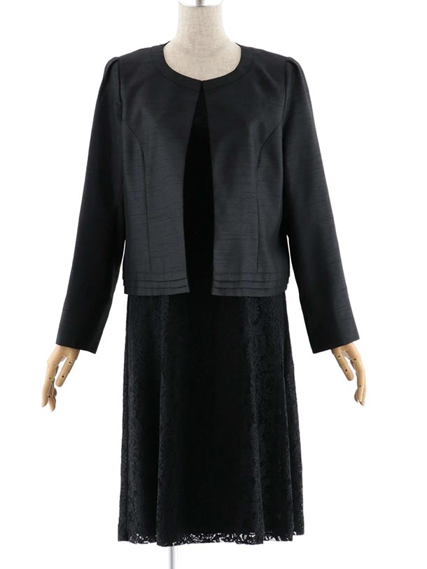 女性スーツ 0010 セレモニーワンピーススーツ 黒 15号