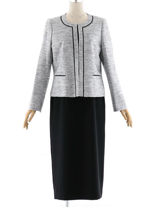 女性スーツ  0014 セレモニースーツ ブラック 11号
