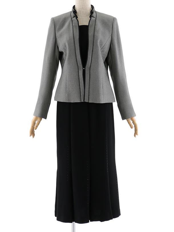 女性スーツ  0015 セレモニースーツ ブラック 9号~