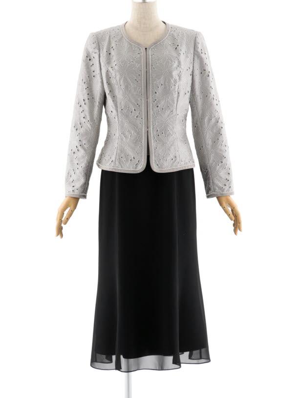 女性スーツ 0019 セレモニースーツ グレー 9号