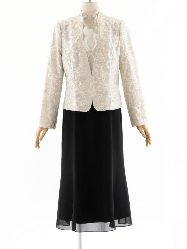 女性スーツ 0021 セレモニースーツ アイボリー 11号
