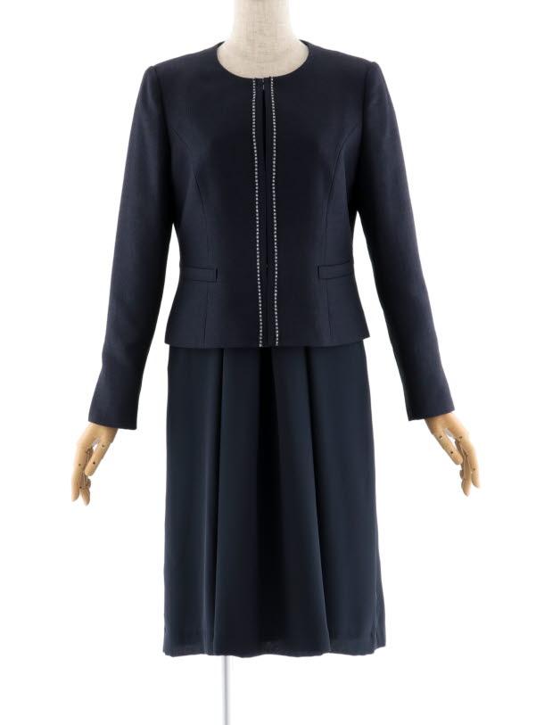 女性スーツ 0025 セレモニースーツ 紺 9号~