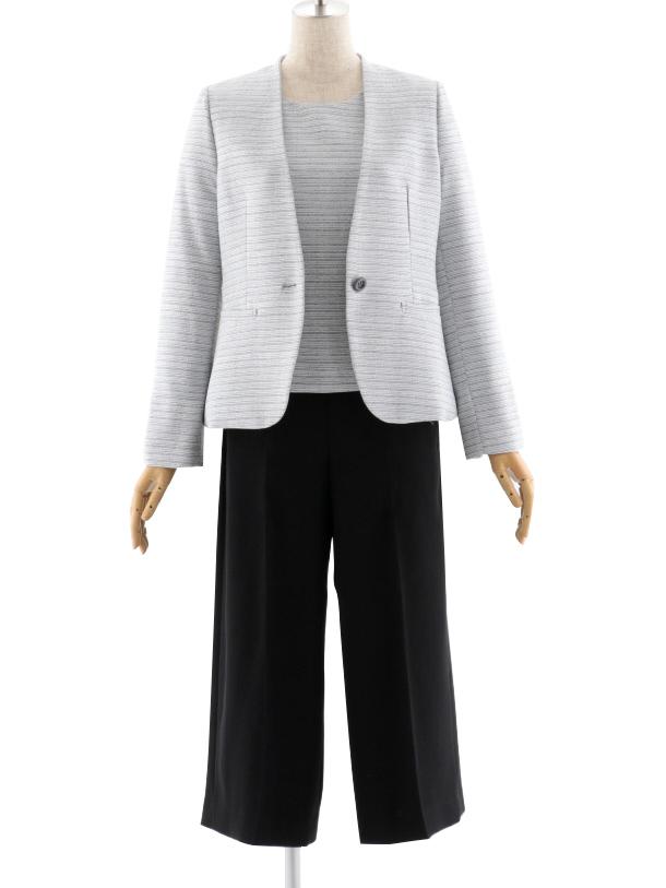 女性スーツ 0026 セレモニースーツ ママスーツ ブラック 7号~
