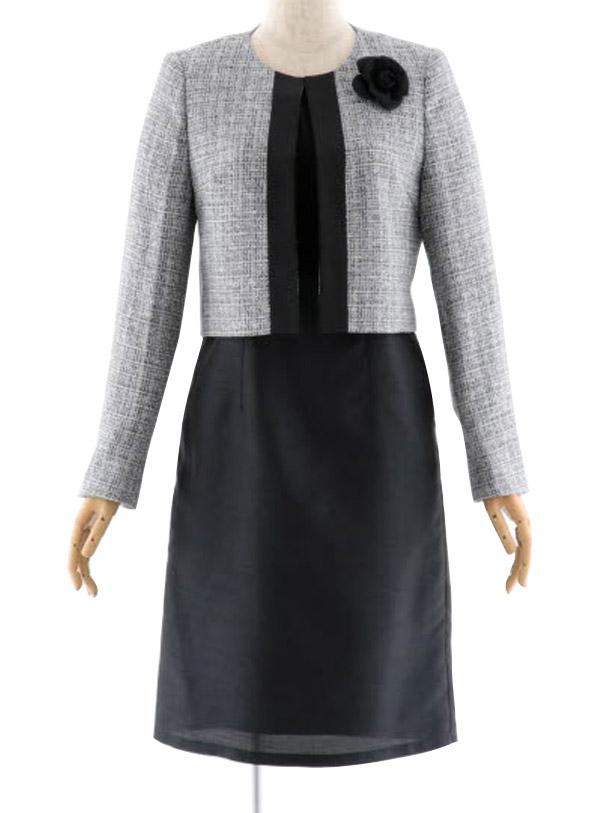 女性スーツ 0032 セレモニースーツ ママスーツ ブラック 7号~