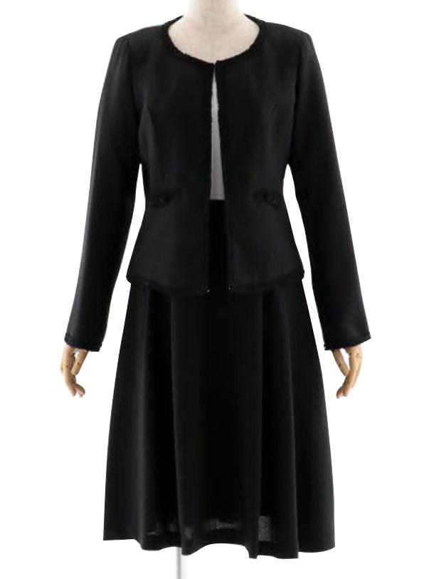 女性スーツ 0039 セレモニースーツ ママスーツ ブラック M~