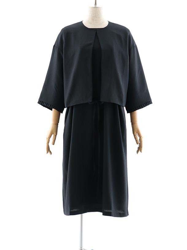 フォーマルアンサンブル 0043(ナチュラル)黒フリーサイズ