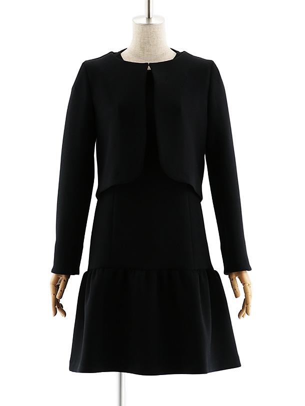 女性スーツ 0048 【TAO ETTTA】ワンピース ブラック S~L
