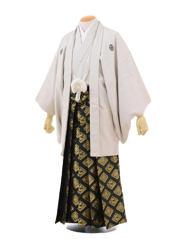 成人式卒業式袴レンタル169白刺子紋付×グリーン金袴袴