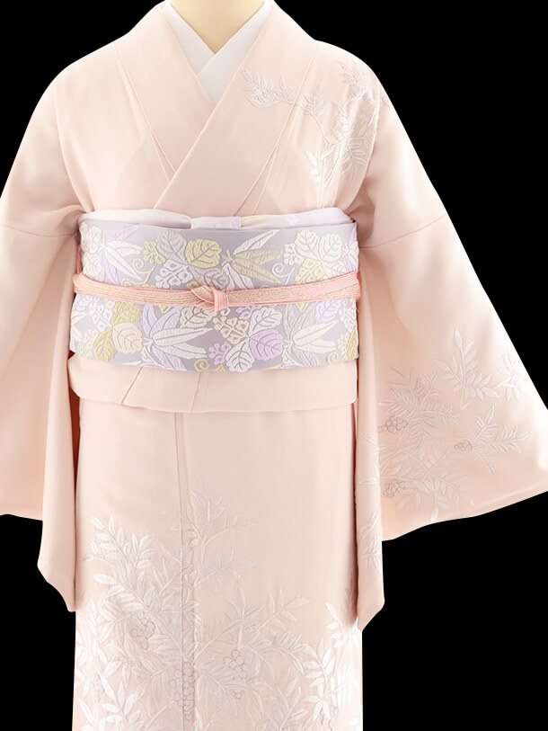 山口美術織物 ピンク着物